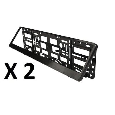 2x Black ABS Number Plate Surrounds Holder Frame for all cars SALE ON OFFER