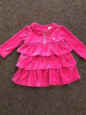 Baby Girls Ralph Lauren Dress And Knickers Size 6months Worn Once Pink