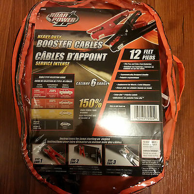 Road Power Heavy Duty Booster Cables  Guage 12 Feet Foot - New!