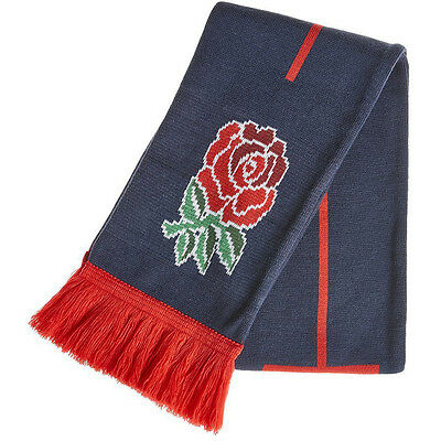 Canterbury Mens England Logoed Acrylic Rugby Supporters Scarf