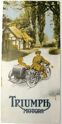 TRIUMPH MOTORS Original Motorcycles Sales Brochure for 1924 #C109