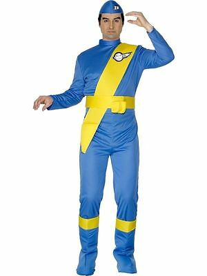 Thunderbirds Virgil Mens 70s Kids TV Show Fancy Dress Costume Stag Party Adult