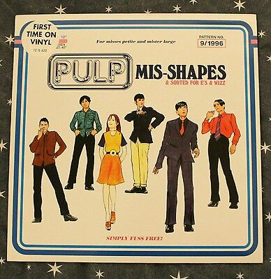 """Pulp: Mis-Shapes & Sorted For E's & Wizz 12"""" VINYL 1996. EXCELENT TO NEAR MINT"""