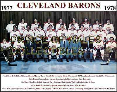 1978 Cleveland Barons Team Photo 8X10