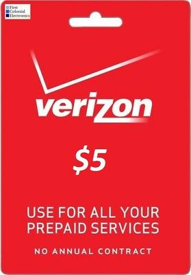 Verizon Data Add-On $5 Refill Card