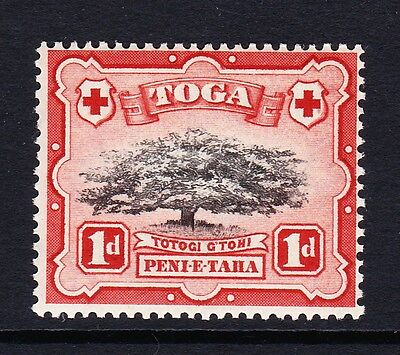 TONGA 1942-49 1d WITH 'LOOPED BRANCH' VARIETY SG 75a MNH.