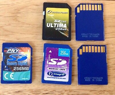 256mb FULL SIZE SD MEMORY CARD STICK X 1.