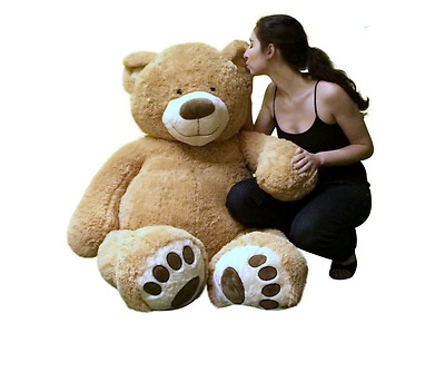 Teddy Bear Plush Stuffed Gift Toy Giant Valentines Day Huge Brown Big USA Made