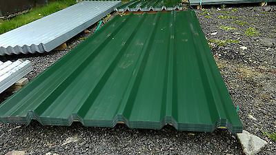 brand new 8ft long juniper green polyester coated box profile roofing sheets