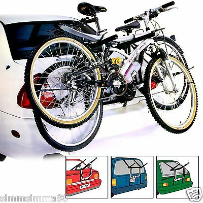 New 2 Bike Bicycle Carrier Car Cycle Rack - Rear Mount - Universal Fitting