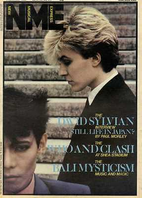 6/11/82Pgn01 Nme Cover Page : David Sylvian Of Japan
