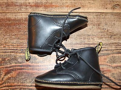 Black Dr Martens baby Crib Shoes size 2 (Feb17)