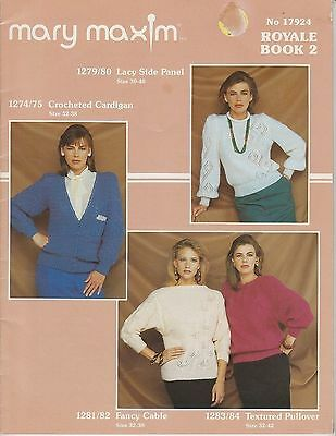 Mary Maxim Knitting & Crochet Pattern Booklet No.17924 Royale Book 2
