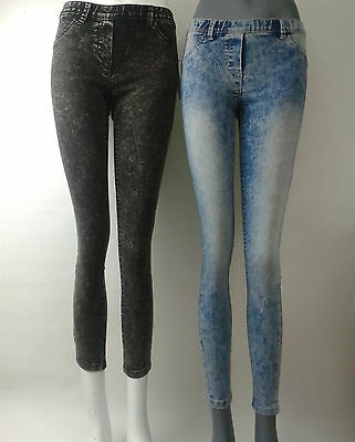 Girls jeggings / jeans skinny fit stone washed ex store 10 years-16 years