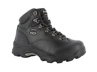 Hi Tec Altitude IV Junior Walking Boots (Black Full Grain)