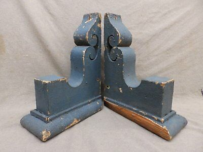 Antique Pair Wood Corbels Brackets Victorian Gingerbread Shabby Old Chic 95-17R