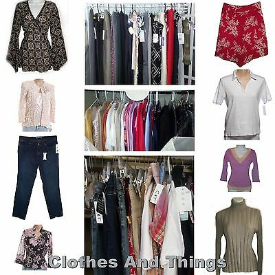 NEW 20 Pc Wholesale Lot Womens Clothing Skirts Tops Jeans Pants Blouses Sweaters