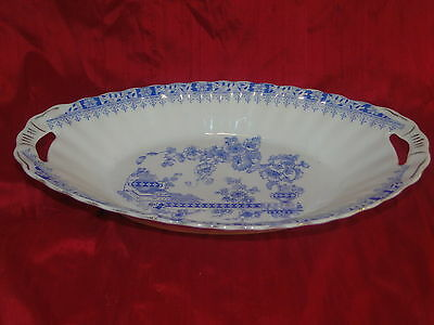 China Blau Schale Oval Obstschale Teller  Bavaria