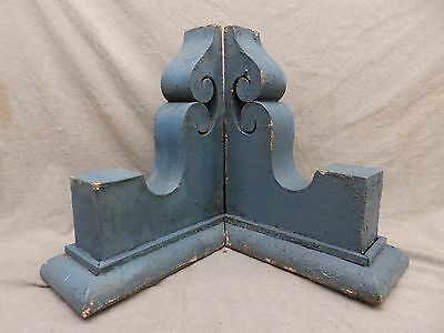 Antique Pair Wood Corbels Brackets Victorian Gingerbread Shabby Old Chic 97-17R