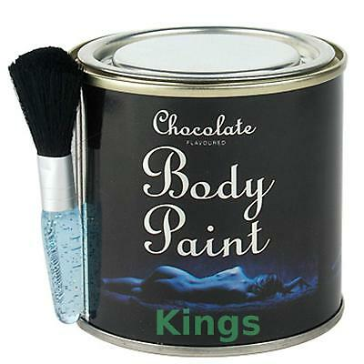 CHOCOLATE BODY PAINT TIN with Brush Sex Aid Romantic Gift Edible Adult Fun *BN*