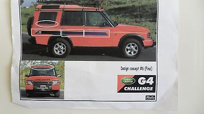Land Rover Discovery G4 edittion - OEM FULL DECAL KIT
