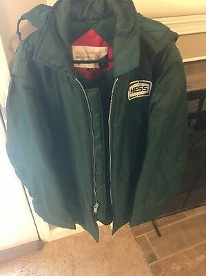AMERADA HESS UNIFORM HESS WINTER CREW CHIEF JACKET w/HOOD - SIZE MEDIUM