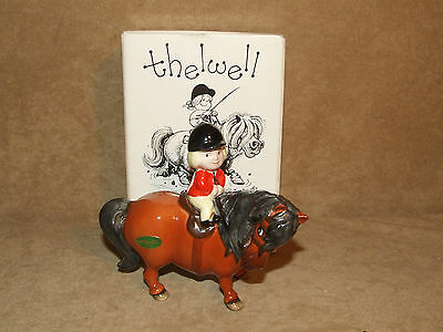 John Beswick Thelwell Pony Learner Rider Excellent With Sticker Boxed 1981