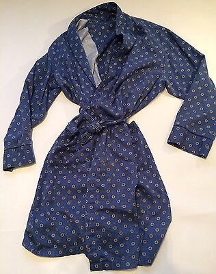 vintage dressing gown smoking jacket  Robe  S  80s St Michael