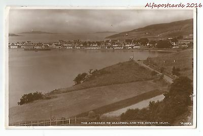 Scotland Approach to Ullapool & Summer Isles Real Photo Vintage Postcard 7.2