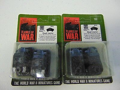 FLAMES OF WAR 1ST EDITION QUAD TRACTOR BR277 x2 PACKAGES NEW!!! GM83