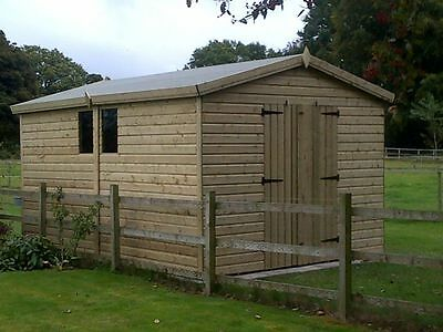12x8 Heavy Duty Tanalised 19mm Garden Shed, Sheds, Workshop