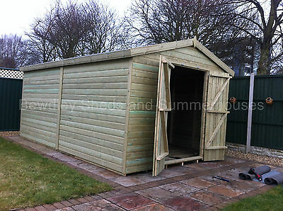 14x8 19mm Heavy Duty 19mm Tanalised Apex Garden Shed, Sheds, Workshop