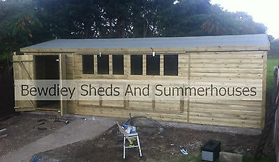 20x10 Heavy Duty Tanalised Apex Garden Shed, Sheds, Workshop