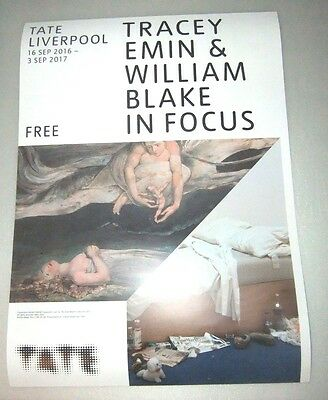 Tracey Emin / William Blake Poster from Tate Gallery Liverpool