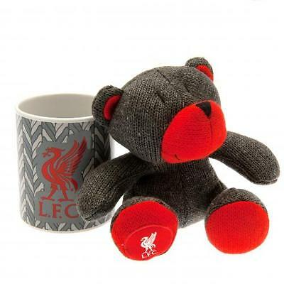 Official Licensed Football Product Liverpool Mug & Bear Set Teddy Cup Gift Box