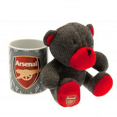 Official Licensed Football Product Arsenal Mug & Bear Set Teddy Cup Gift Box New