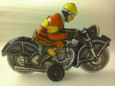 Vintage Tin Plate Motorbike Made in West Germany by JW excellent condition