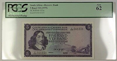 (1975) No Date South Africa Reserve Bank 5 Rand Note SCWPM# 111c PCGS New 62