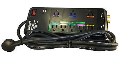 Monster Power HT 800G Advanced Surge Protector 8 Outlets - Black - 2160 Joules