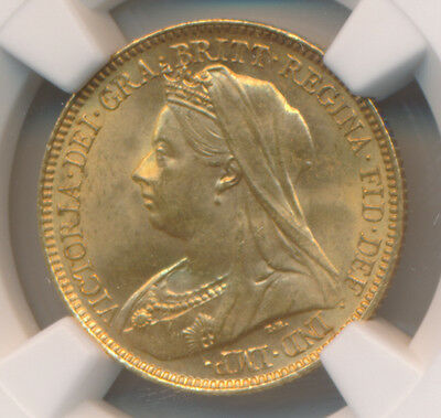 Great Britain GOLD Half Soverign 1901 - NGC MS 64