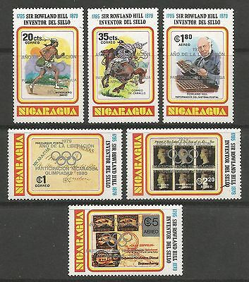 NICARAGUA. 1980. Liberation & Olympic Games Set. SG: 2214/19. Mint Never Hinged.