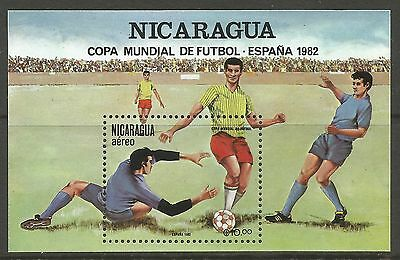NICARAGUA. 1982. World Cup Miniature Sheet. SG: MS2332. Mint Never Hinged.