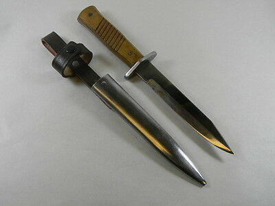 German Wwii Knife With Metal Scabbard