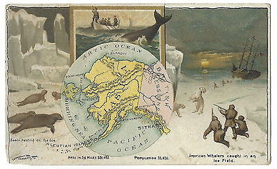 14. Victorian Trade Card Arbuckles Coffee / American Whalers Caught In Ice Field