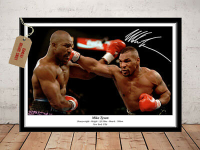 Mike Tyson Heavyweight Boxing Champion Autographed Signed Boxing Photo Print