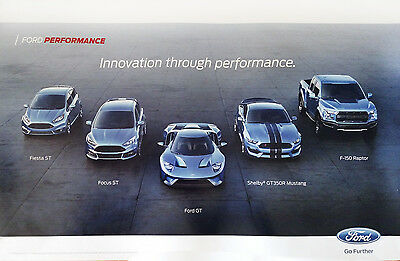 Ford Performance Poster - Fiesta St Focus St Ford Gt Shelby Gt350 F-150 Raptor