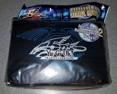 Yu-Gi-Oh 5D's Double Deck Case New In Package Travel Case 2 Removable Trays