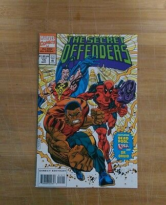 Secret Defenders #15 early Deadpool cards included