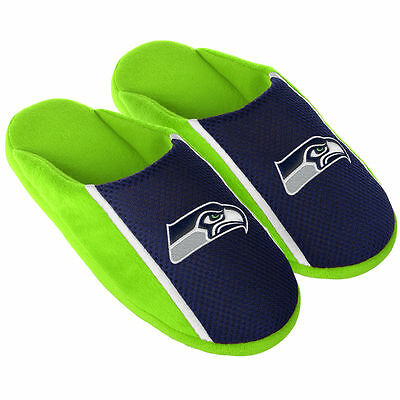Pair Seattle Seahawks Jersey Slide Slippers - Team Color House shoes JRS16 Style