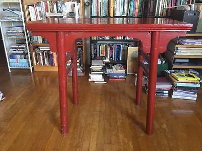 Antique Red Chinese Altar Table